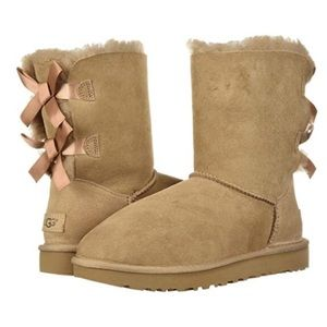 UGG Bailey Bow Fawn Boots